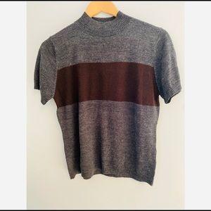 Harve Benard Sweater Tee Wool Blend Women's Size 8